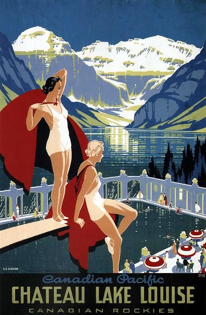 Alfred Crocker Leighton. Chateau Lake Louise. 1938
