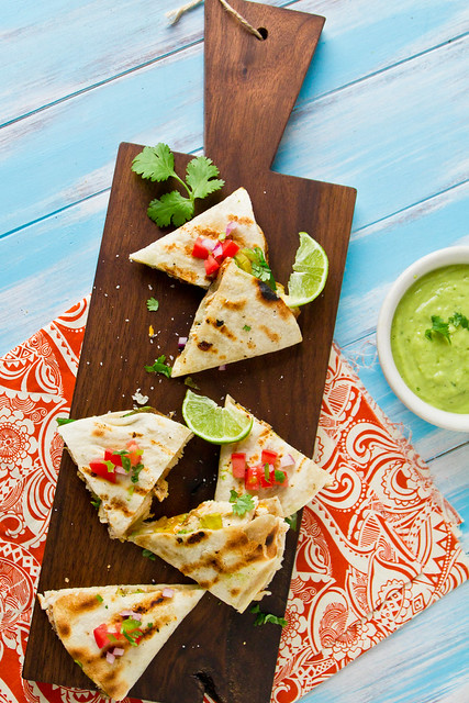 Grilled Chicken & Avocado Quesadillas