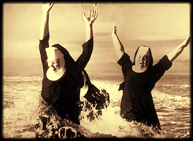 nuns_swimming