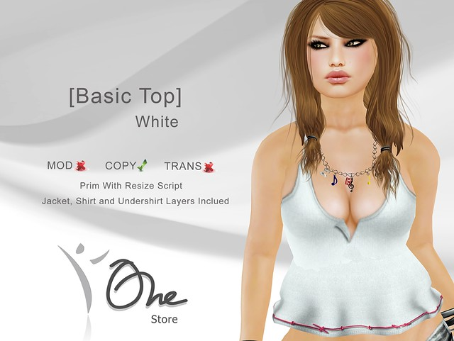 [Basic Top] White