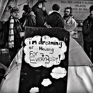 """I'm Dreaming Of Housing For Everybody"", Occupy DC, McPherson Square, Washington, DC"