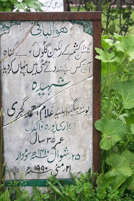 Kashmir Diary – The Martyr's Cemetery, Srinagar