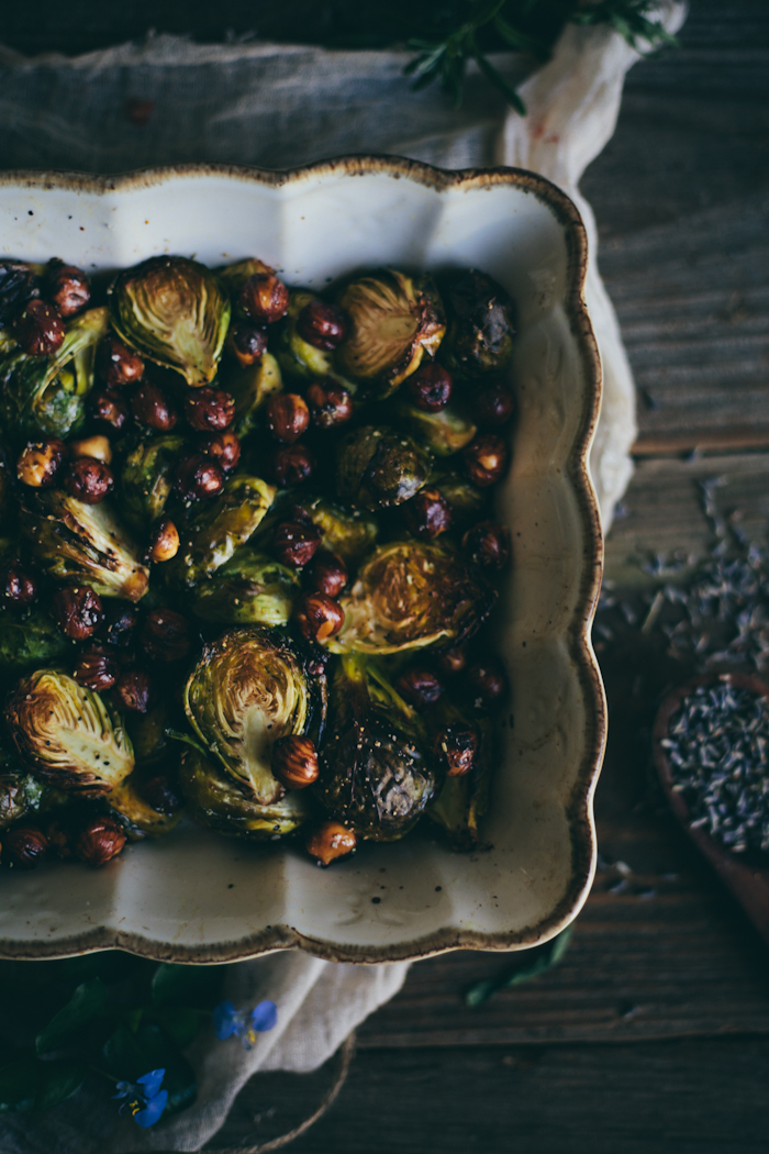 Roasted Brussel Sprouts with Toasted Hazelnuts & Lavender | Adventures in Cooking