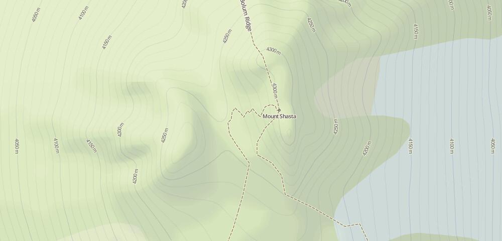 elevation contour lines