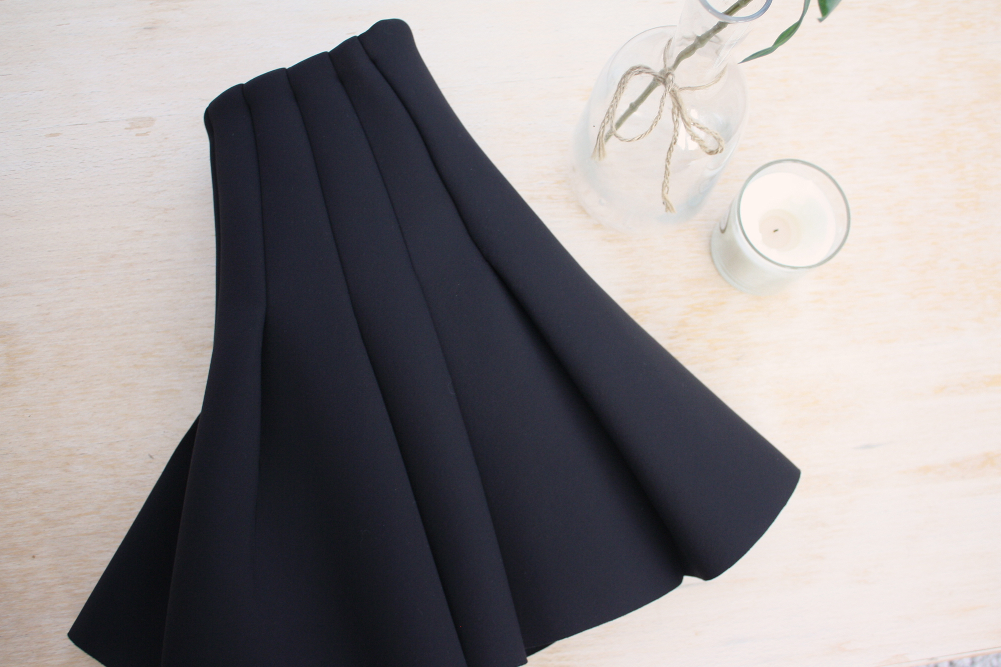 hm pleated neoprene skirt