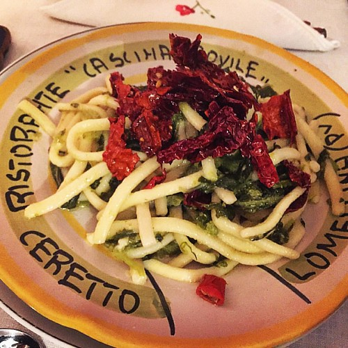 Scialatielli alle cime di rape e peperoni cruschi #basilicata #foodporn #food #handmade #house