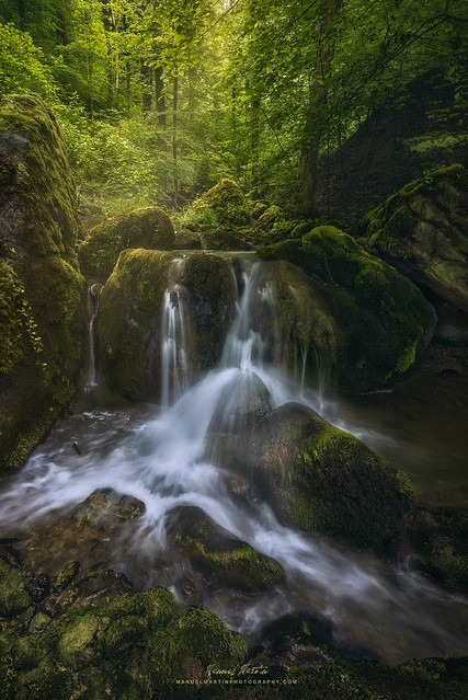 Chasing waterfalls across a fairytale-like forest
