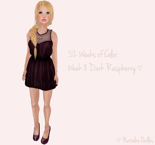 52 Weeks of Color Challenge: Week 8 Dark Raspberry! ; TWO