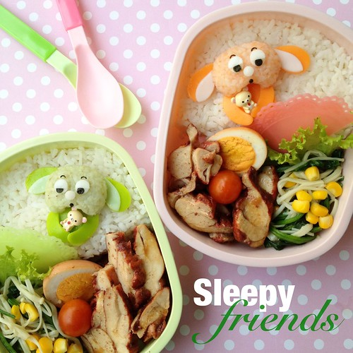 Sleepy Friends Bento
