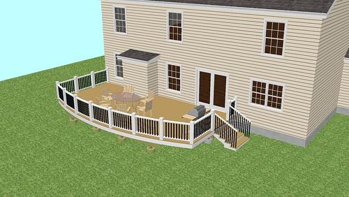 Round Deck Design Fairfax, VA