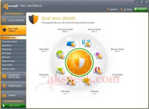 Avast 7 real shields
