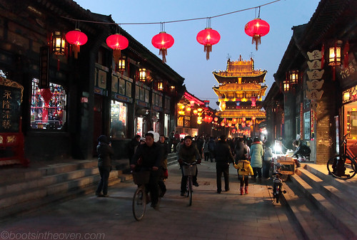 Pingyao Evening Street, with City Tower
