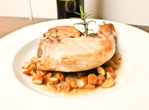 Pork Chop with Sherry and Almonds