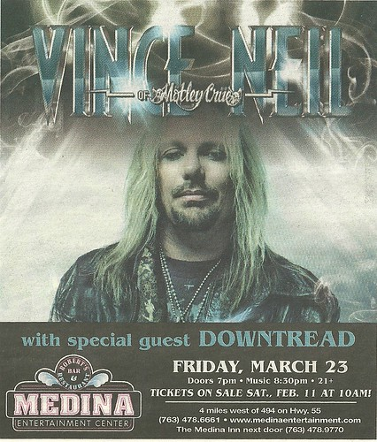 03/23/12 Vince Neil/Downtread @ Medina, MN