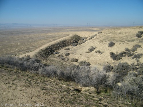 Plates shifted along the San Andreas Fault, Wallace Creek Trail, Carrizo National Monument, California