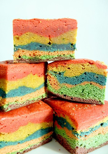 rainbow blondie bars