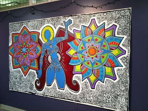 "02/29/12 My mural ""She Continues to Grow"" is officially finished."