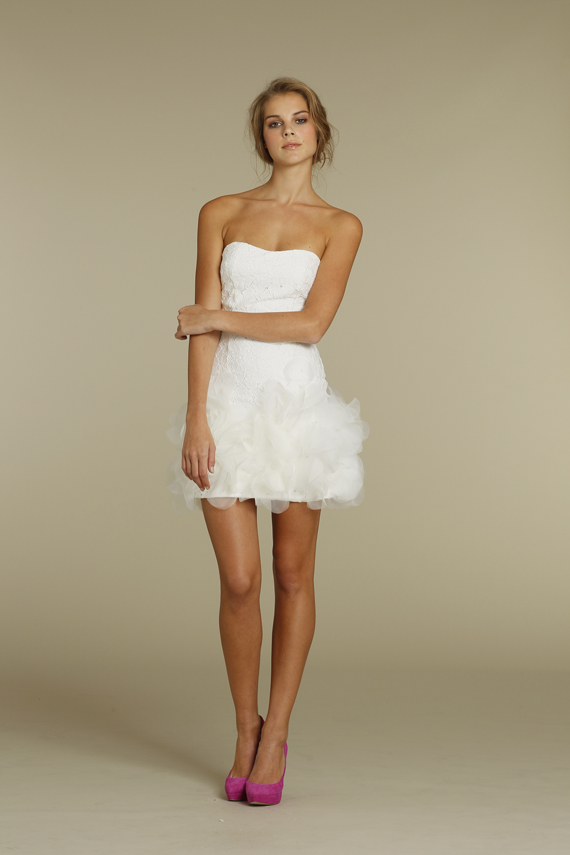 This adorable little mini dress by JLM Couture Jim Hjelm Blush Collection is