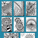 Zentangle ATCs by flowerlily1