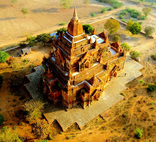 Birds eye view,,Temple..Pagan