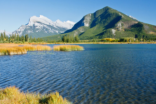 Vermillion Lakes with Mt. Rundle and Sulphur Mountain