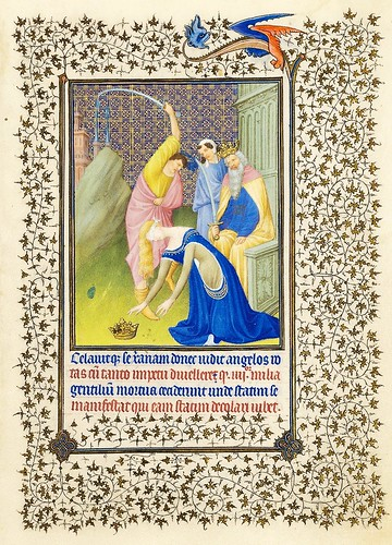 001-La emperatriz Faustina es decapitada-Belles Heures of Jean de France duc de Berry-Folio 18r- ©The Metropolitan Museum of Art