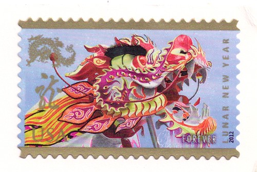 USA-Lunar New Year Stamp 2012