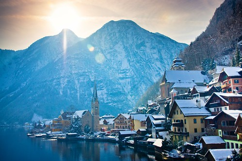 winter mountain lake snow alps cold reflection church austria österreich dachstein salzkammergut hallstatt upperaustria sigma1770 hallstattersee sonyalpha700