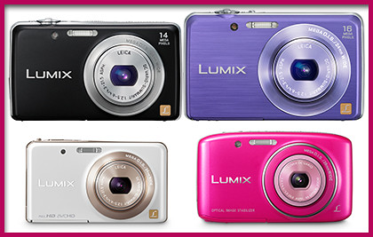 Panasonic LUMIX DMC-FH6, FH8, FX80 and S2 from the Stylish Casual series.