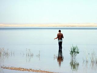 Dans l'eau du désert