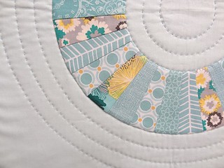 Circle wedge quilt audition - detail