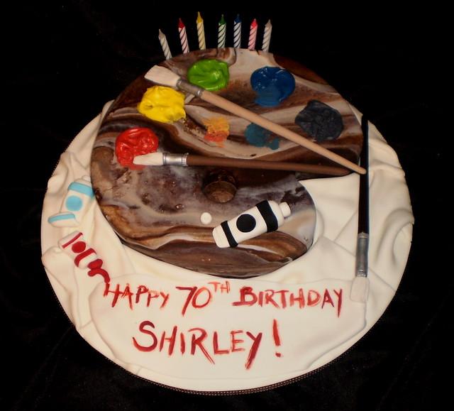 Cake With Artist Palette : Artist Palette Cake Flickr - Photo Sharing!
