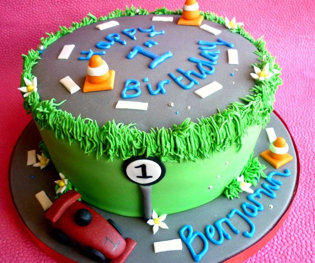 Car Themed 1st Birthday Cake