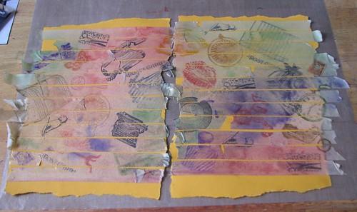 Art Journal #8 - Stamped Masking Tape 008