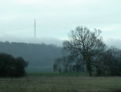 Wrotham transmitting station in the Fog