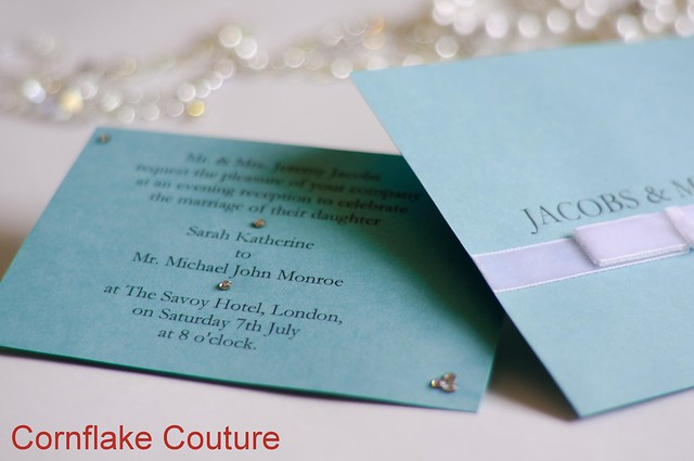 Tiffany Co inspired wedding invitations