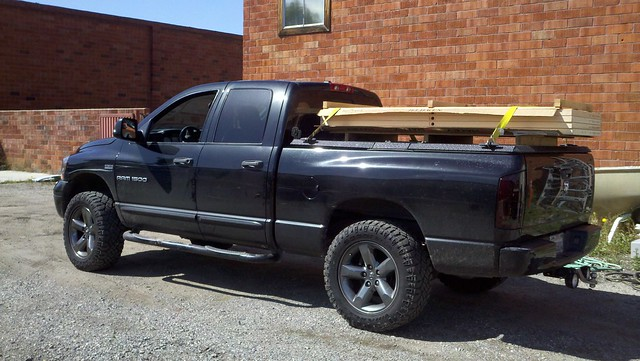 Wood Truck Tops ~ Wood on top of a folding truck bed cover ram wooden