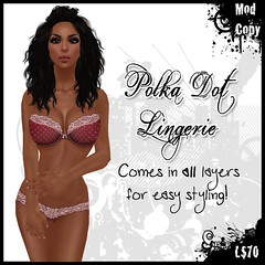 [IF] {Lingerie} Polka II - [Red]