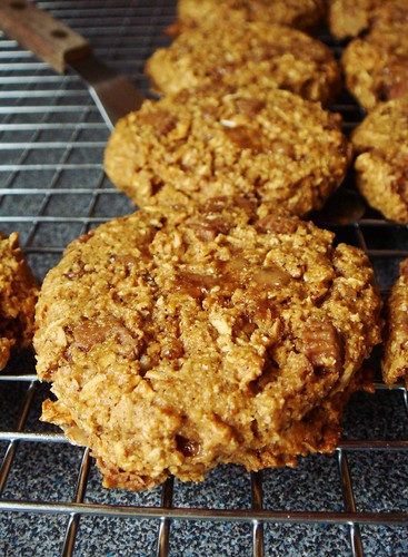 Caramelized Banana Peanut Cookies