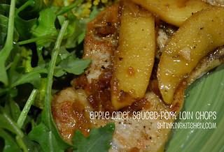 Apple Cider Sauced Pork Loin Chops
