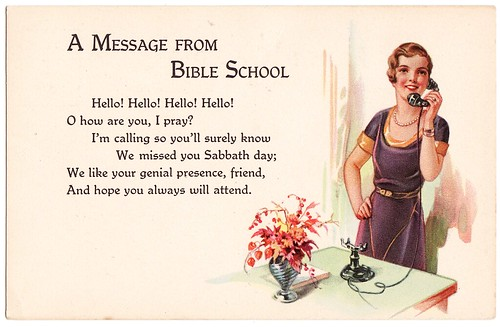 bible school postcard
