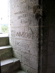 Septmonts (intérieur donjon) graffitis 6238
