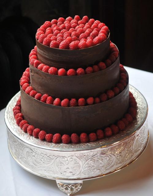 Chocolate and Raspberry Wedding Cake | Flickr - Photo Sharing!