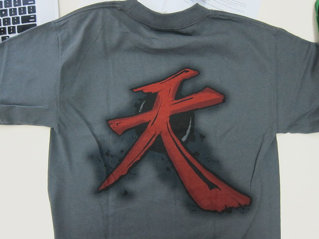 Akuma's Heavenly Combo T-Shirt - Back View (Close Up)