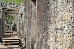 Galerie sud du Bayon (Angkor)