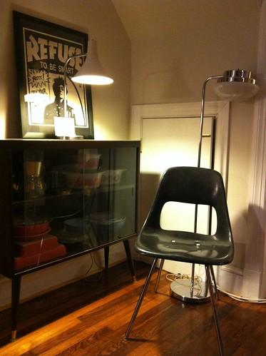 A new fiberglass chair