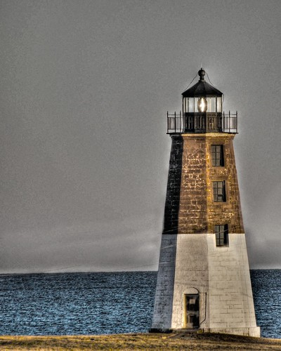 Point Judith Lighthouse by Jerri Moon Cantone
