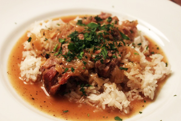 Smothered Pork Roast Over Rice - Amateur Gourmet