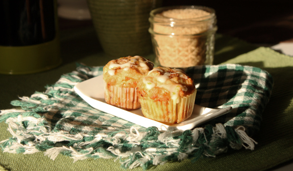Orange, Pineapple, Banana Muffins
