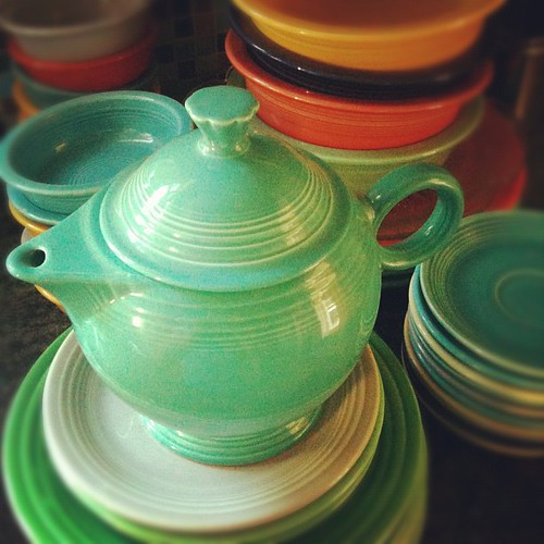 Packing up the #vintage #fiestaware #dishes